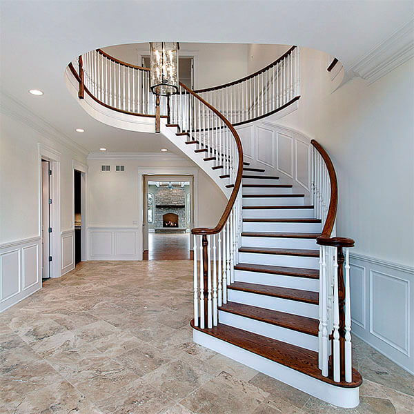 griffith stair company staircase with handrails and balusters