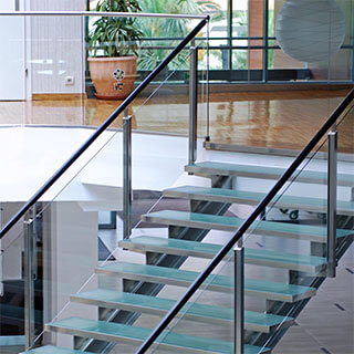 griffith stairs glass balustrade