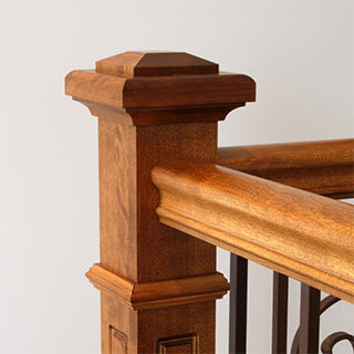 griffith stairs post to post handrail